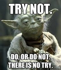 Try not, do or do not, there is no try. (Yoda)
