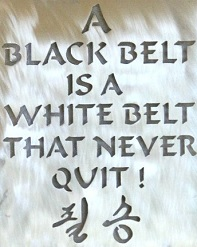 A black belt is a white belt that never quit